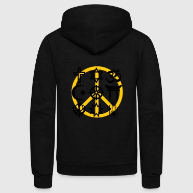 World religions with peace symbol - Unisex Fleece Zip Hoodie