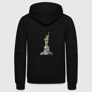 Statue of Liberty - Unisex Fleece Zip Hoodie