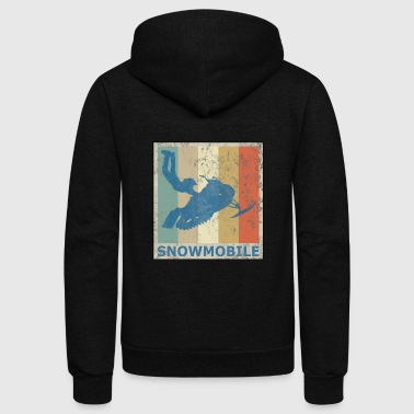 Retro Retro Vintage Style Snowmobile Winter Sports Snow - Unisex Fleece Zip Hoodie