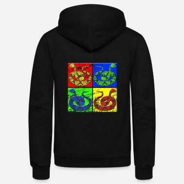 Crawl Snake Snake - Unisex Fleece Zip Hoodie