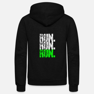 Running run run run neongreen - Unisex Fleece Zip Hoodie