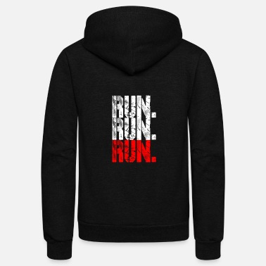 Running run run run - Unisex Fleece Zip Hoodie