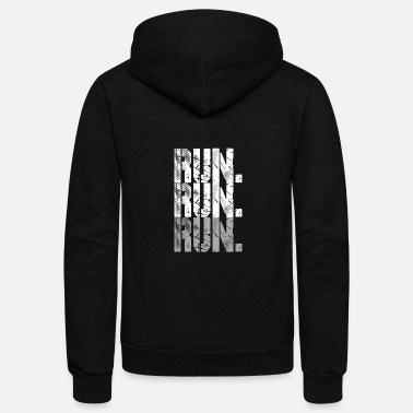 Running run run run grey - Unisex Fleece Zip Hoodie