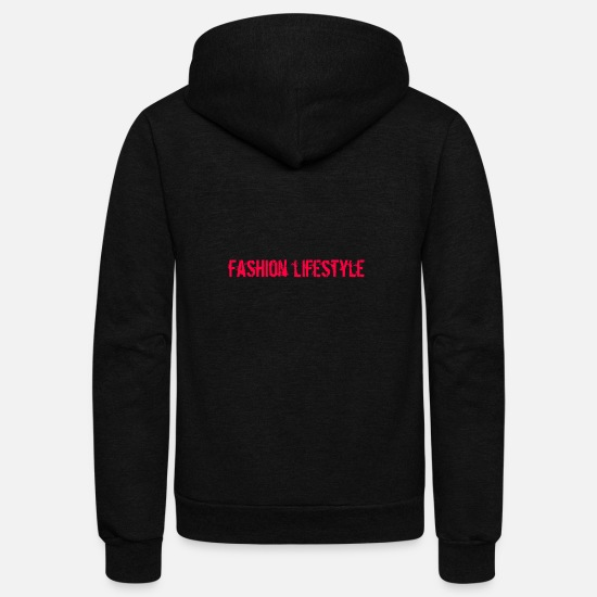 Graphic Art Hoodies & Sweatshirts - Fashion Lifestyle - Unisex Fleece Zip Hoodie black