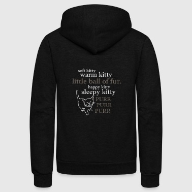 Soft Kitty, - Unisex Fleece Zip Hoodie
