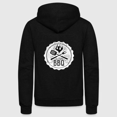 Bbq BBQ - this shirt is for BBQ lovers - Unisex Fleece Zip Hoodie