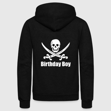 Bursdag Birthday Boy - Pirate Birthday Boy - Pirate Birt - Unisex Fleece Zip Hoodie