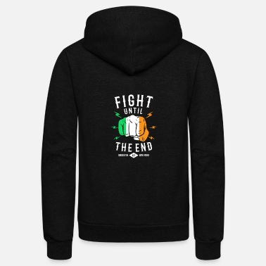 Themed Brooklyn NY Irish Quote St Patricks Day Saying - Unisex Fleece Zip Hoodie