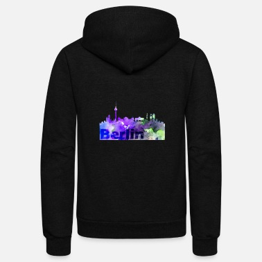 Skyline Of Berlin Berlin Skyline - Unisex Fleece Zip Hoodie