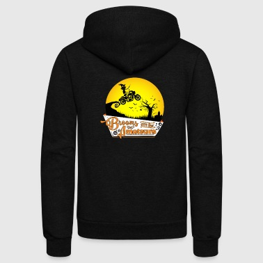 Witch Motorcycle & Witch Gift - Brooms for Amateurs - Unisex Fleece Zip Hoodie