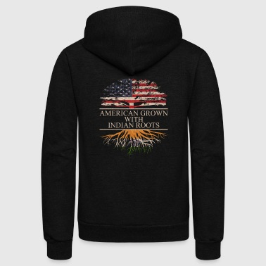 American grown with indian roots - Unisex Fleece Zip Hoodie