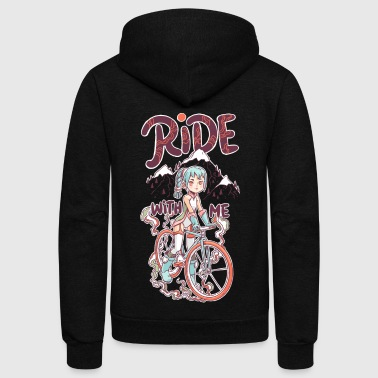 Ride With Me T Shirt - Unisex Fleece Zip Hoodie