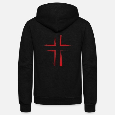 Cross The Bloody Cross - Unisex Fleece Zip Hoodie