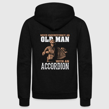 Old man - never underestimate an old man with an - Unisex Fleece Zip Hoodie