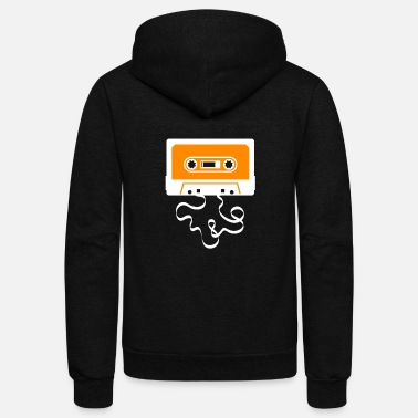 Cassette Audio Tape Cassette Recorder - Unisex Fleece Zip Hoodie