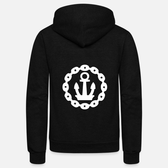 Chain Hoodies & Sweatshirts - Chain Anchor - Unisex Fleece Zip Hoodie black