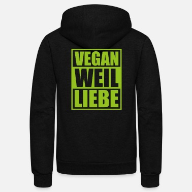 Plants Vegan because love saying gift plants - Unisex Fleece Zip Hoodie