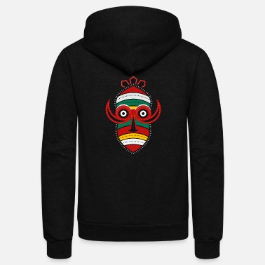 Totem Pole Totem Mask - Unisex Fleece Zip Hoodie