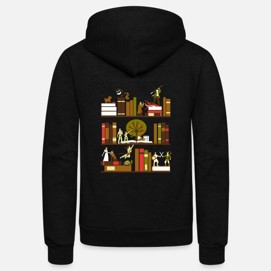 Novelty Hoodies & Sweatshirts - A Novel Idea tshirt - Unisex Fleece Zip Hoodie black