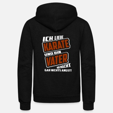 Karate Father Brown Nikyu Ikkyu Karate - Unisex Fleece Zip Hoodie