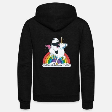 Haters gonna hate - Unisex Fleece Zip Hoodie