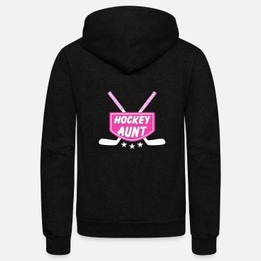 Aunt Costume For Hockey Aunt. Gift For Aunt From Niece - Unisex Fleece Zip Hoodie