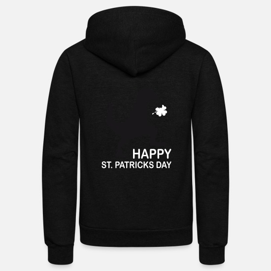 Ireland Shamrock Hoodies & Sweatshirts - Saint Patricks Day Ireland irish shamrock Dino - Unisex Fleece Zip Hoodie black