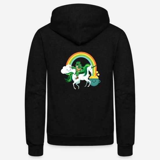 Drinking Hoodies & Sweatshirts - Funny St Patricks Day Leprechaun Party gift Paddy - Unisex Fleece Zip Hoodie black
