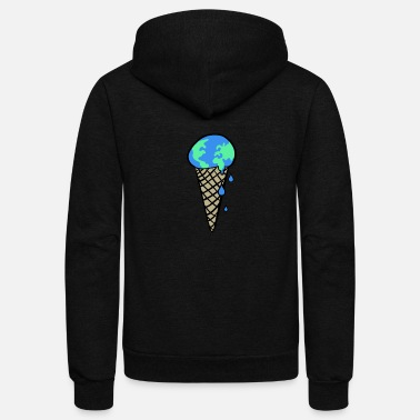 Change Global Warming & Climate Change - Unisex Fleece Zip Hoodie
