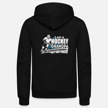 Grandpa Hockey Player T Shirt, Hockey Grandpa T Shirt - Unisex Fleece Zip Hoodie
