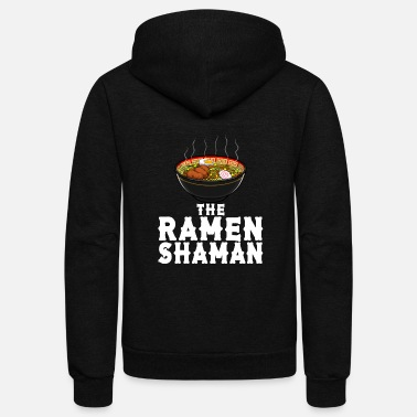The Ramen Shaman Japanese Instant Noodle Foodie - Unisex Fleece Zip Hoodie