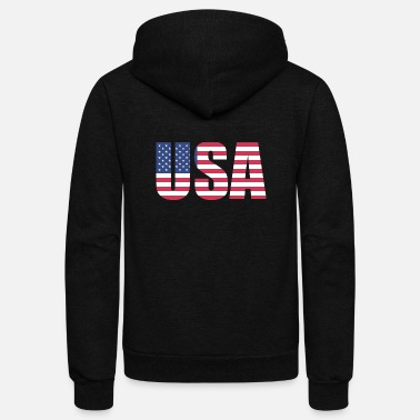 Usa USA FLAG - Unisex Fleece Zip Hoodie