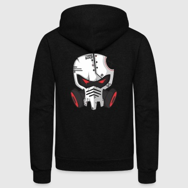 gas mask skeleton - Unisex Fleece Zip Hoodie
