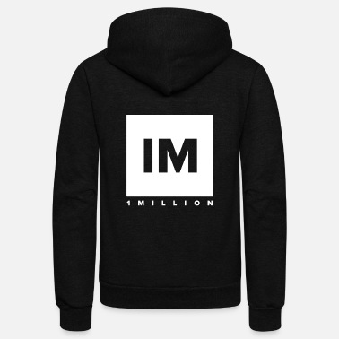 Dance 1 MILLION Dance Studio Logo - Unisex Fleece Zip Hoodie