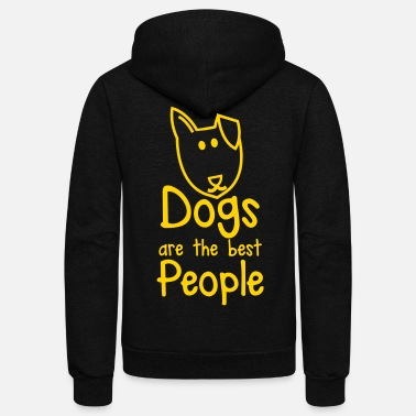 Kawaii DOGS are the BEST people - Unisex Fleece Zip Hoodie