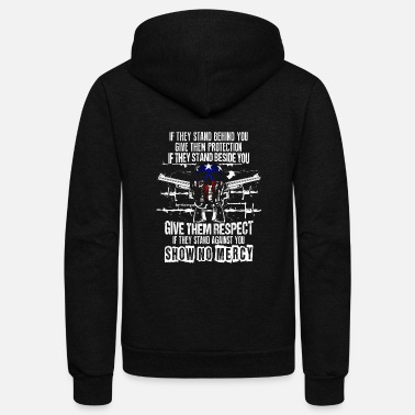 Funny Gun owner – Show no mercy –2nd Amendment - Unisex Fleece Zip Hoodie