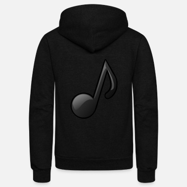 Note Clue Music Note Musical Notes Instrument Gift Present - Unisex Fleece Zip Hoodie