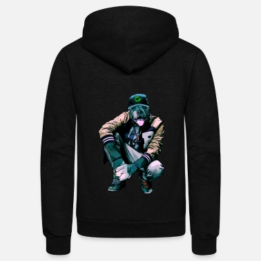 Rapper dog rapper - Unisex Fleece Zip Hoodie