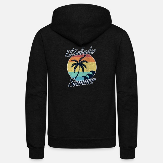El Salvador Hoodies & Sweatshirts - El Salvador - Unisex Fleece Zip Hoodie black