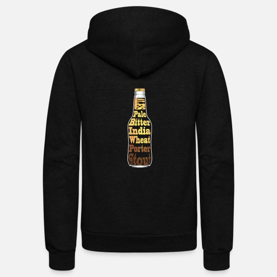 Alcohol Hoodies & Sweatshirts - Ales in a Bottle - Unisex Fleece Zip Hoodie black