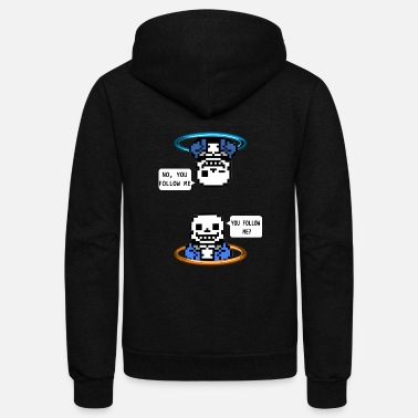 Gaming Portal: sans - Unisex Fleece Zip Hoodie