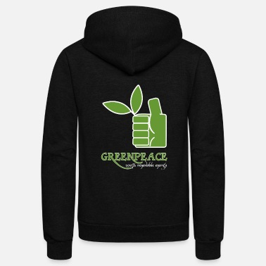 Greenpeace Greenpeace 100 renewable energy - Unisex Fleece Zip Hoodie