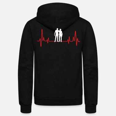 Laughingoutloud Buddy Heartbeat - Unisex Fleece Zip Hoodie