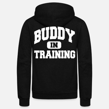 Laughingoutloud Buddy In Training - Unisex Fleece Zip Hoodie