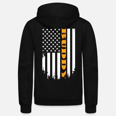 Laughingoutloud American Buddy Proud Of My Country - Unisex Fleece Zip Hoodie