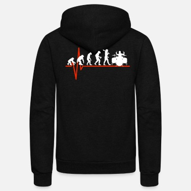 Tambores Drums Heartbeat - EVOLUTION OF DRUMS - Unisex Fleece Zip Hoodie