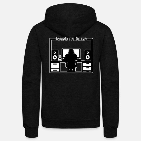 Music Hoodies & Sweatshirts - Music Producer Beatmker and Dj - Unisex Fleece Zip Hoodie black