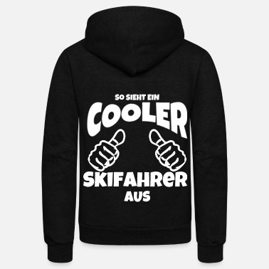 Slopes this is what cool skier looks like thumbs up - Unisex Fleece Zip Hoodie