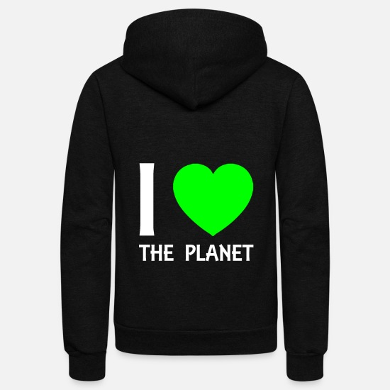 Greenpeace Hoodies & Sweatshirts - planet - Unisex Fleece Zip Hoodie black