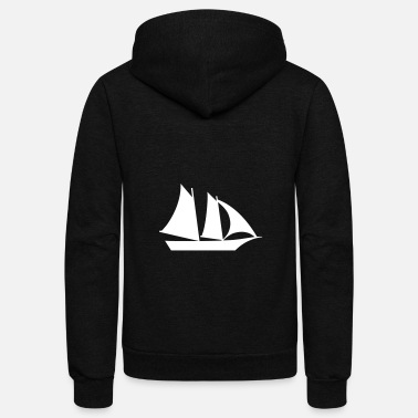 Large Sailboat - Unisex Fleece Zip Hoodie